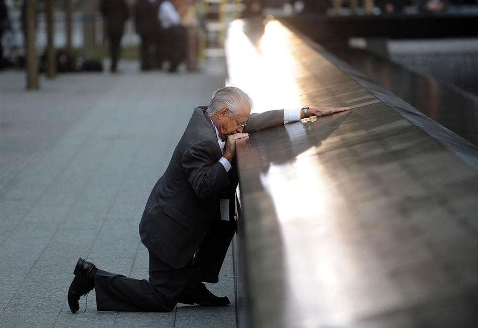 Πατέρας που έχασε τον γιο του, κατά την επέτειο της 9/11