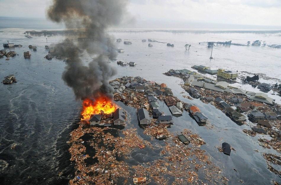 Εναέρια φωτογραφία μετά το τσουνάμι στην Ιαπωνία