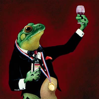 Sommelier--by-Will-Bullas-Frog-Art-Print