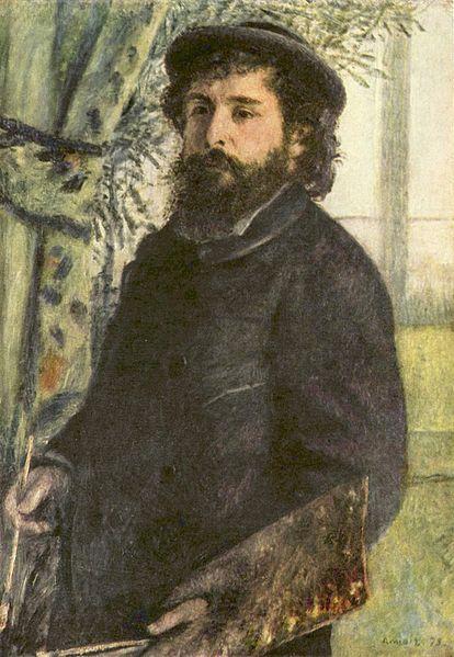 Πορτραίτο του Claude Monet από τον Πιερ Ογκίστ Ρενουάρ
