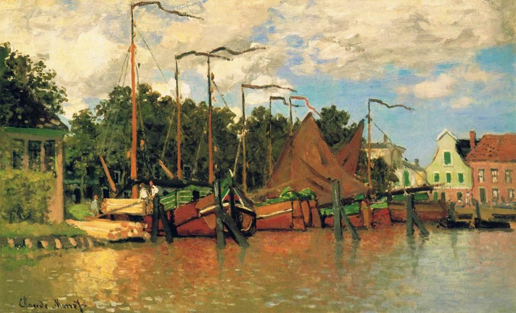 Claude Monet - Boats at Zaandam 1871