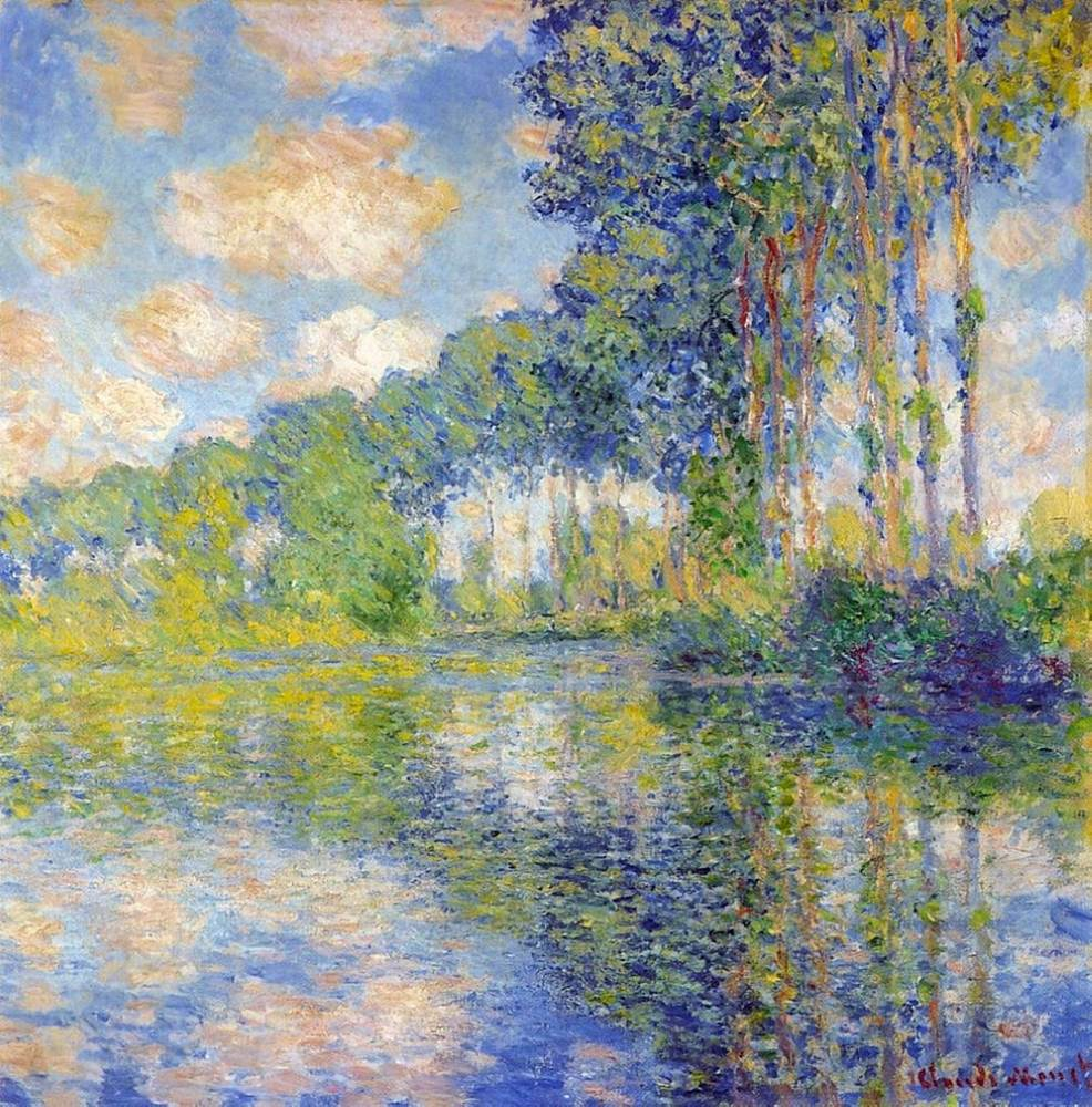 Claude Monet | Poplars on the Epte 1891