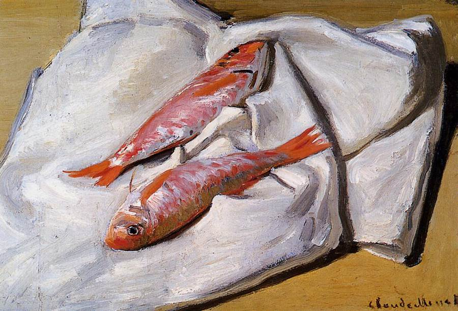 Red Mullets, 1869 - Claude Monet