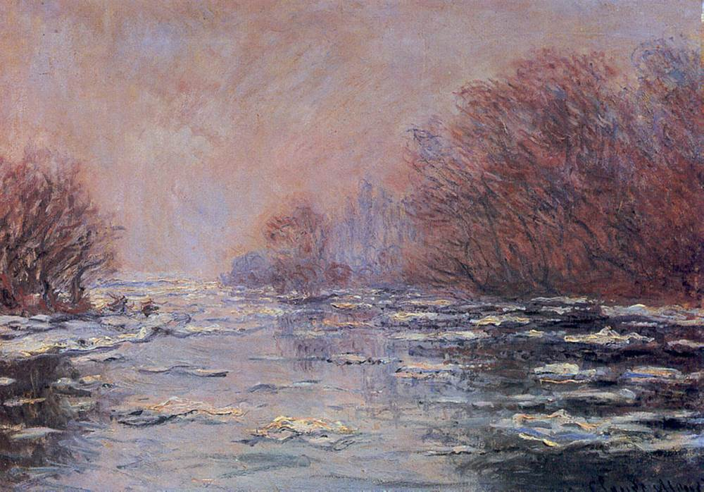 Monet - River Thawing near Vetheuil 1880