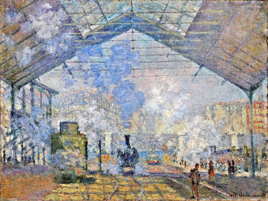 The Saint-Lazare Station 1877