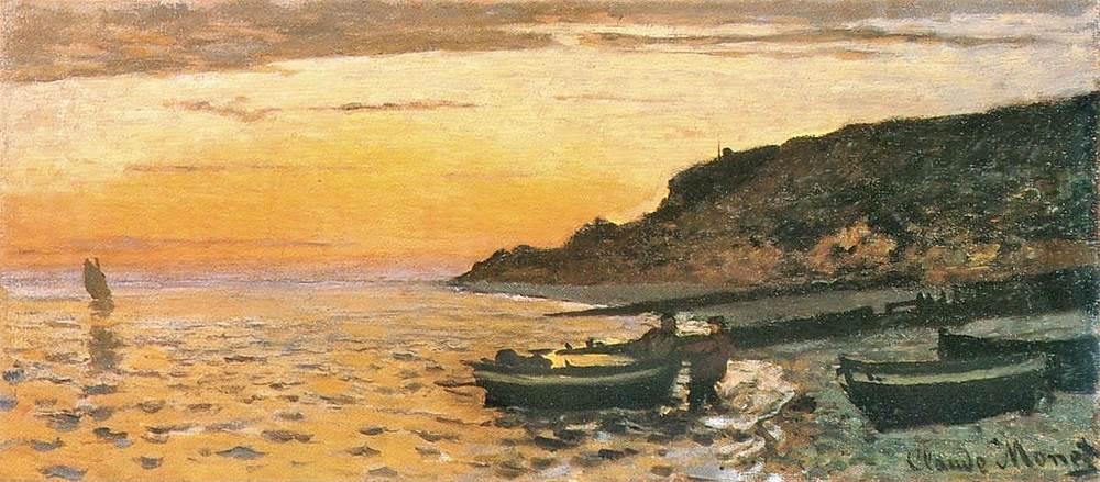 Seacoast at Saint-Adresse, Sunset, 1864