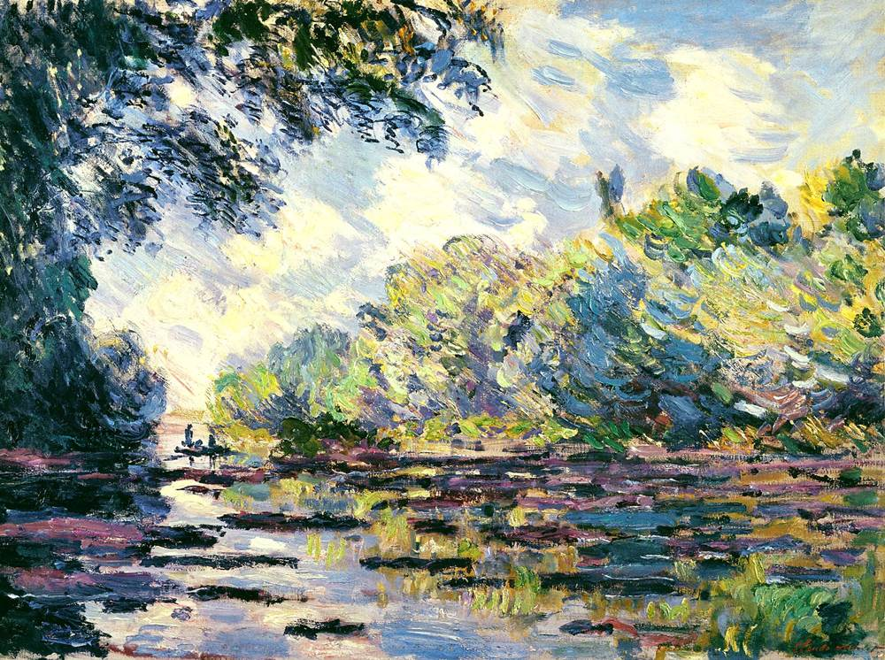 Section of the Seine, near Giverny, 1885 - Claude Monet