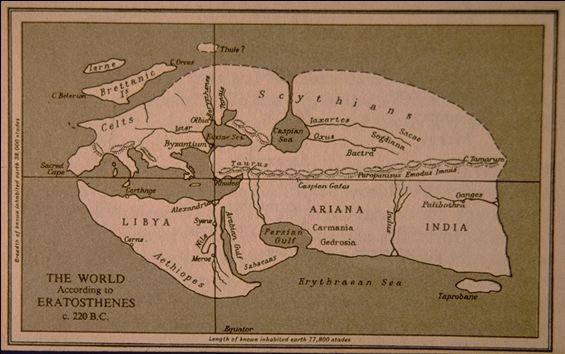 ο παγκόσμιος χάρτης του Ερατοσθένη