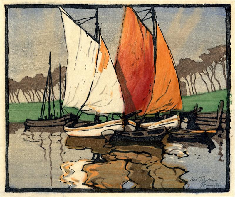 Sailboats-at-Harbor-by-Helene-Tupke-Grande