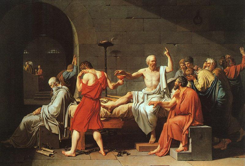 Ο θάνατος του Σωκράτη Jacques-Louis David - 1787