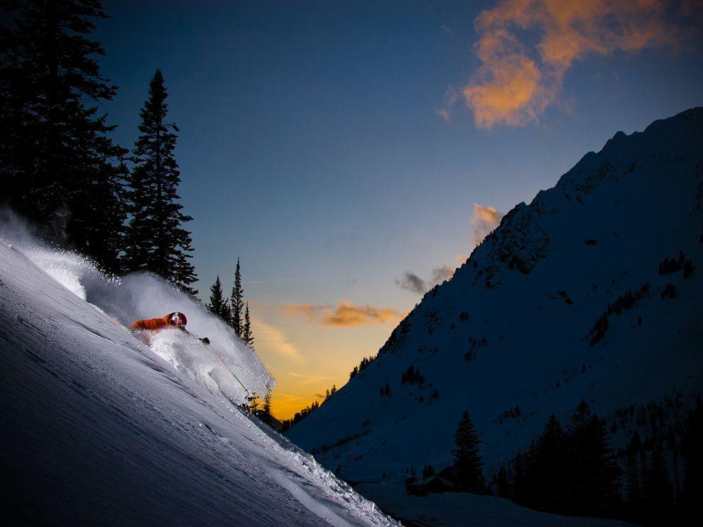 Σκι με Ηλιοβασίλεμα , Γιούτα