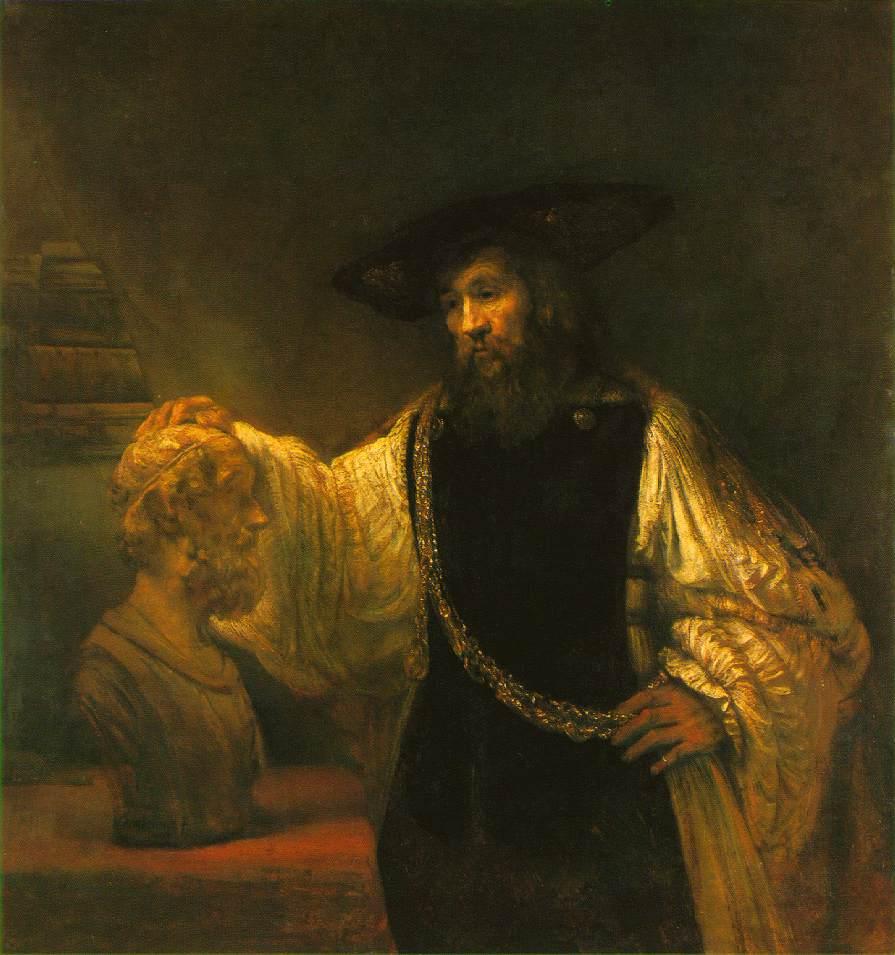 Ο Αριστοτέλης με την προτομή του Ομήρου - Rembrandt van Rijn - 1653