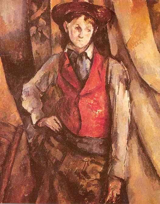 cezanne-Boy in a Red Waistcoat