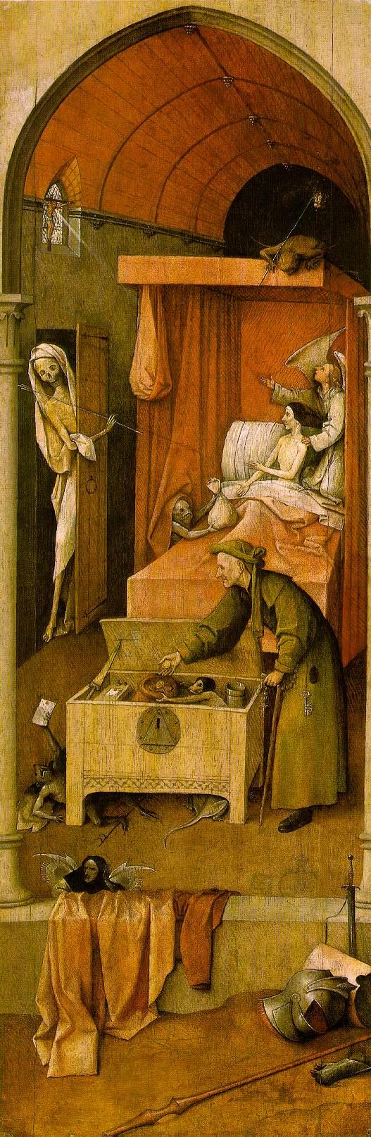 O θάνατος κι ο φιλάργυρος -Hieronymus Bosch 1516