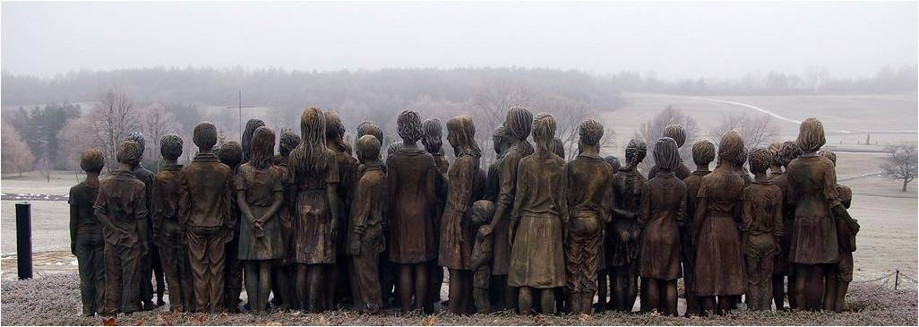 Lidice children scultpure massacre 7