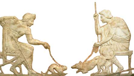 cat-and-dog-fight-ancient-greece