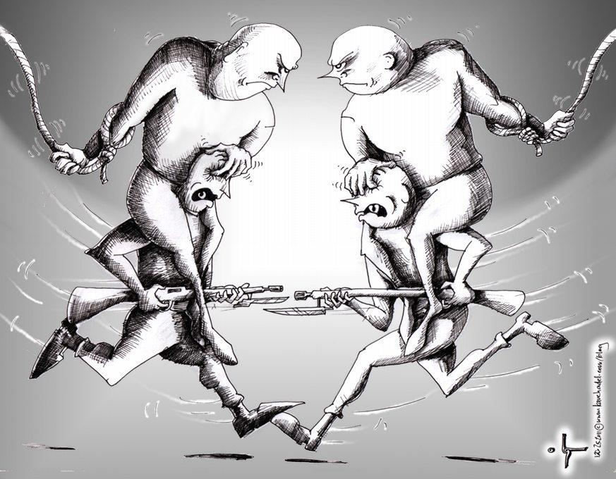 Political-Cartoon-History-Summary-2011-by-Iranian-American-Cartoonist-and-Artist-Kaveh-Adel