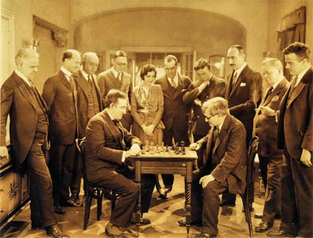 Emanuel-Lasker-Playing-Chess-with-Marshall