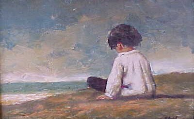 lonely child beach