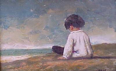 lonely child beach