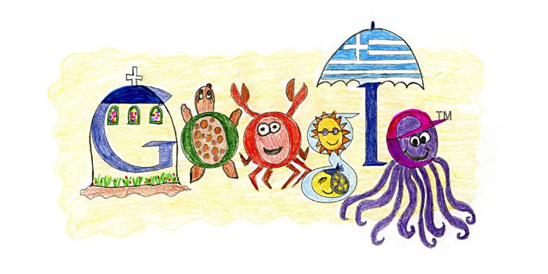 """ΕΥΤΥΧΙΑ ΚΟΥΛΟΥΚΑ, 13ο Δημοτικό Νέου Ηρακλείου. """"Ζωγράφισα την Ελλάδα το καλοκαίρι. Τον όμορφο βυθό της με την πλούσια ζωή του, τον ήλιο μας και το φεγγάρι μας που λάμπουν και την μοναδική αρχιτεκτονική των όμορφων νησιών μας. Αυτή είναι η Ελλάδα μου το καλοκαίρι."""""""