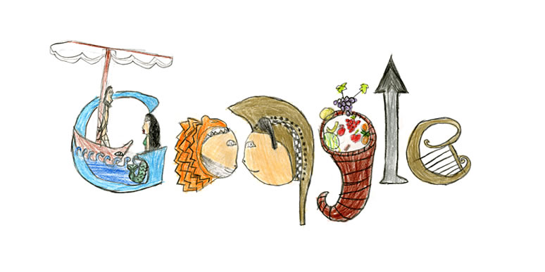 """ΜΑΡΘΑ ΔΙΓΚΑ, 1ο Δημοτικό Σταυρούπολης Θεσσαλονίκης Ο Οδυσσέας, ο Ηρακλής και ο Αχιλλέας ψάχνουν το κέρας της Αμάλθειας που γεννάει όλα τα αγαθά με όπλα τους το δόρυ και τη λύρα για να το χαρίσουν σε όποιον το χρειάζεται. Έτσι και η Ελλάδα γενναιόδωρα χαρίζει τους μύθους της σε ολόκληρο τον κόσμο."""""""