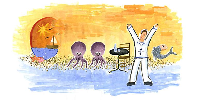 """ΚΥΡΙΑΚΗ ΚΑΚΟΥ, Ζάννειο Πρότυπο Γενικό Πειραματικό Λύκειο Πειραιά. """"Για μένα Ελλάδα είναι η θάλασσα, τα καϊκάκια στα νησιά του Αιγαίου, οι παραδοσιακές ταβέρνες και τα λαχταριστά εδέσματα τους. Για μένα Ελλάδα είναι οι απέραντες αμμουδιές και ο καυτός ήλιος τα καλοκαίρια. Για μένα Ελλάδα είναι οι ναύτες με τις άσπρες και γαλάζιες τους στολές. Ελλάδα για μένα είναι το λιμάνι μου, το σουβλάκι μου και μια βόλτα στην παραλία!"""""""