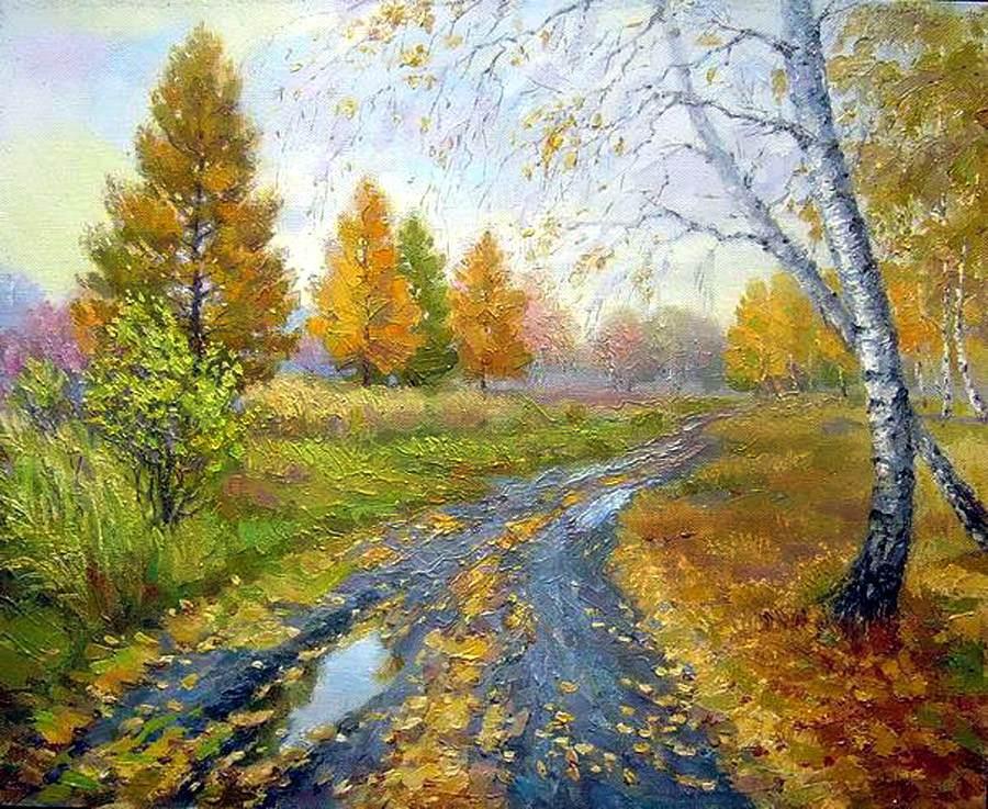 Zaozersky Vitali. Autumn thaw