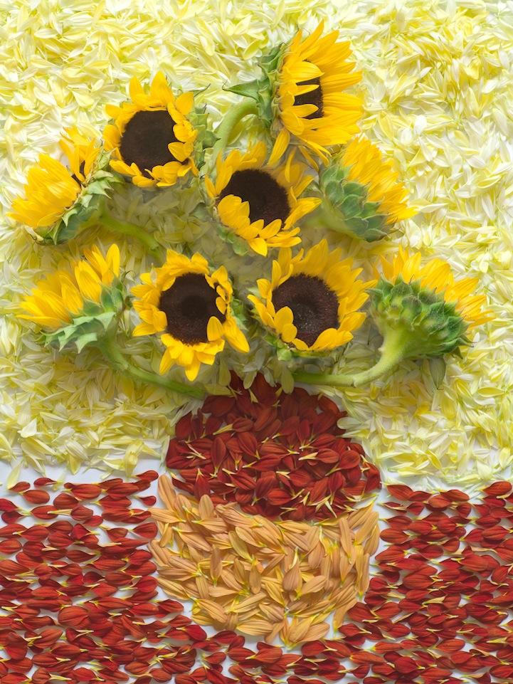 Πίνακες από πέταλα λουλουδιών -2