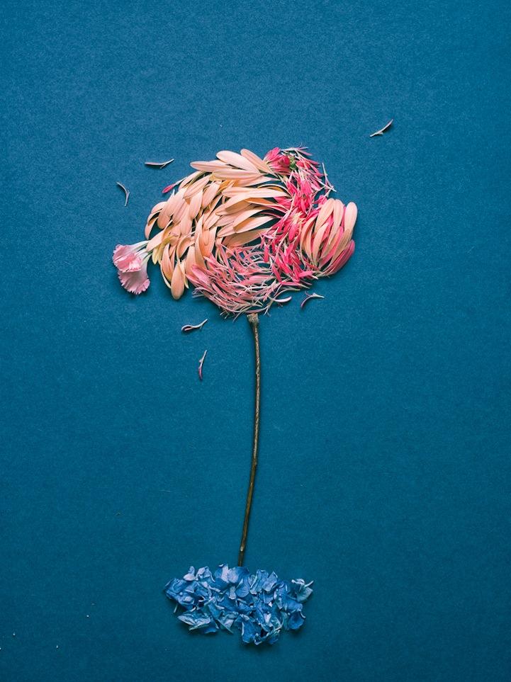 Πίνακες από πέταλα λουλουδιών -4