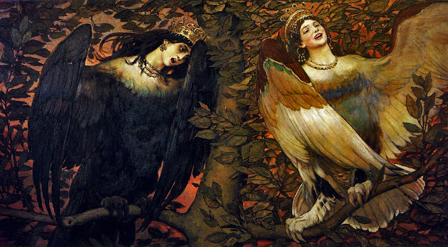 Viktor Vasnetsov-Birds of Sorrow and Joy 1896