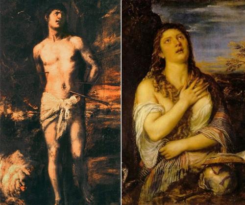 Αν ο πίνακας έχει σκούρο φόντο και όλοι οι χαρακτήρες έχουν βασανισμένη έκφραση, τότε ζωγράφος είναι ο  Titian.