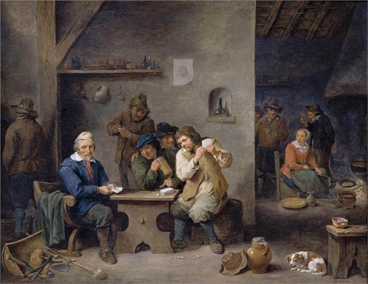 Τυχερά παιχνίδια σε μια ταβέρνα - David Teniers the Younger 1670