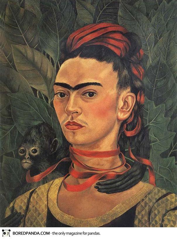 Αν κάθε πίνακας είναι το πρόσωπο μιας γυναίκας με ενωμένα φρύδια, τότε ζωγράφος είναι η Frida Kahlo.