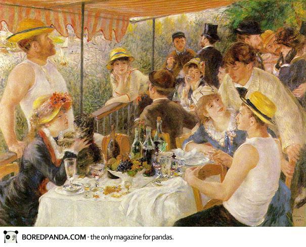 Πιτσιλωτοί πίνακες με χαρούμενες φιγούρες σε γιορτή, είναι δημιουργίες του Renoir.