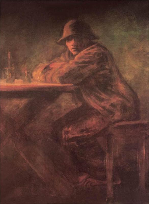 Στην ταβέρνα - Laszlo Mednyanszky, 1899
