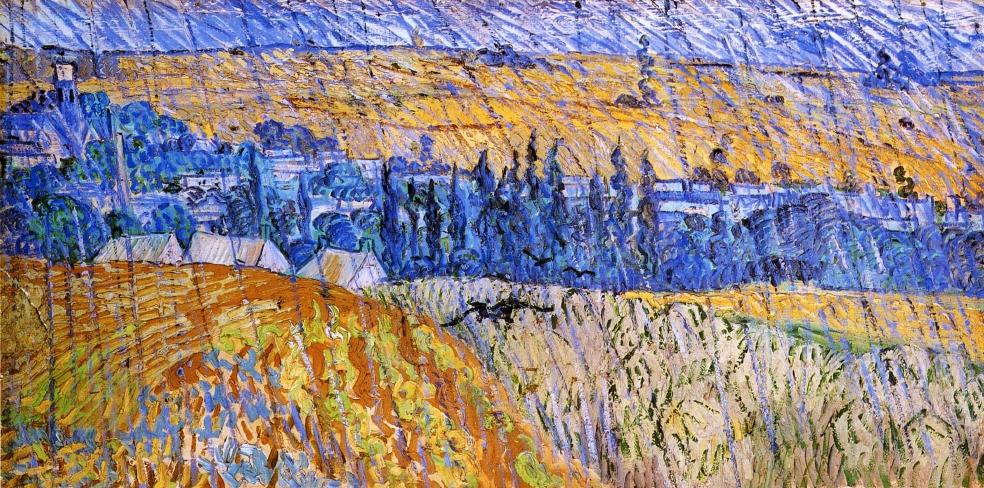 Τοπίο στη βροχή - Vincent van Gogh 1890