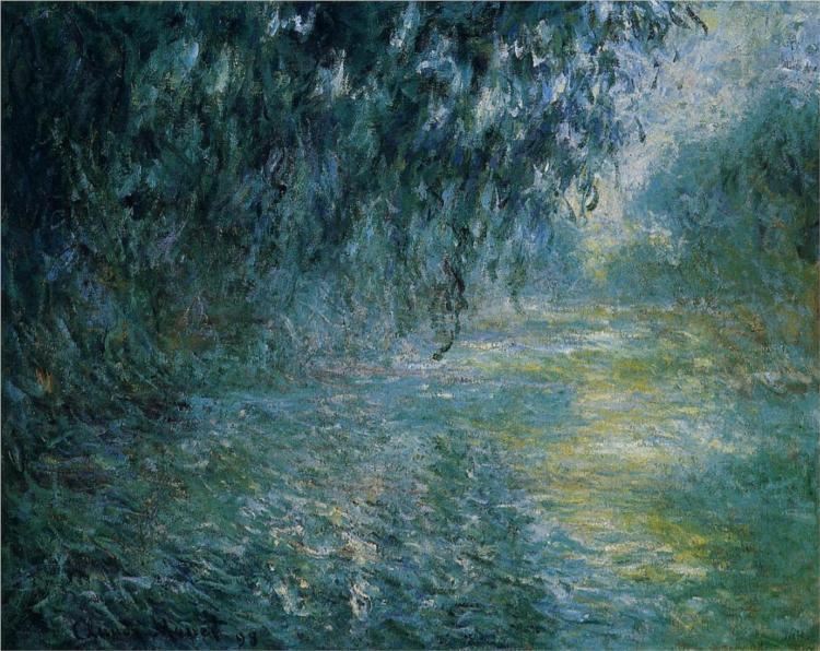 Πρωινό υπο βροχή στο Σηκουάνα - Claude Monet 1897