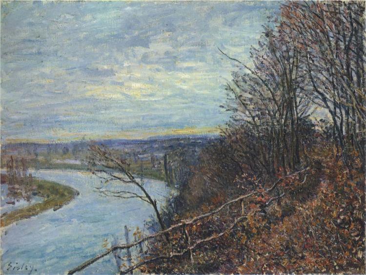 Ένα απόγευμα του Νοέμβρη Alfred Sisley 1881