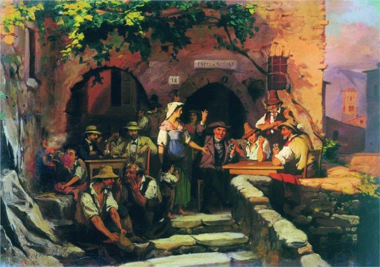 Η ιταλική ταβέρνα - Fyodor Bronnikov 1858