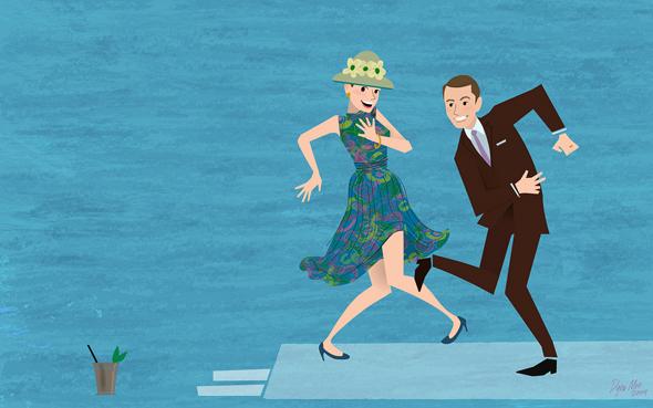 Άντρας και γυναίκα χορεύουν