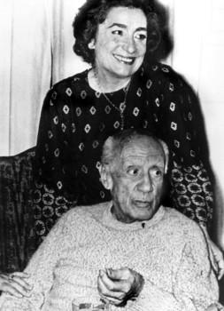 O Picasso με τη Jaqueline Roque