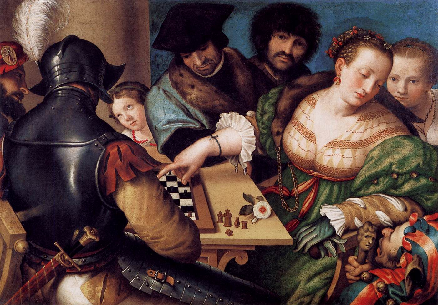 Giulio CAMPI -  The Chess Players 1530