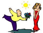 Σύζυγος προσφέρει λουλούδια στη γυναίκα του