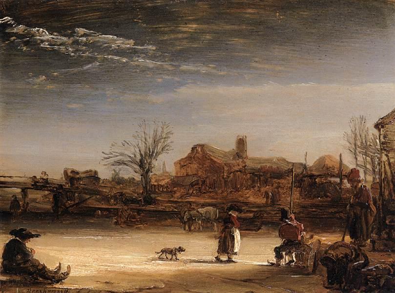 REMBRANDT χειμωνιάτικο τοπίο 1646