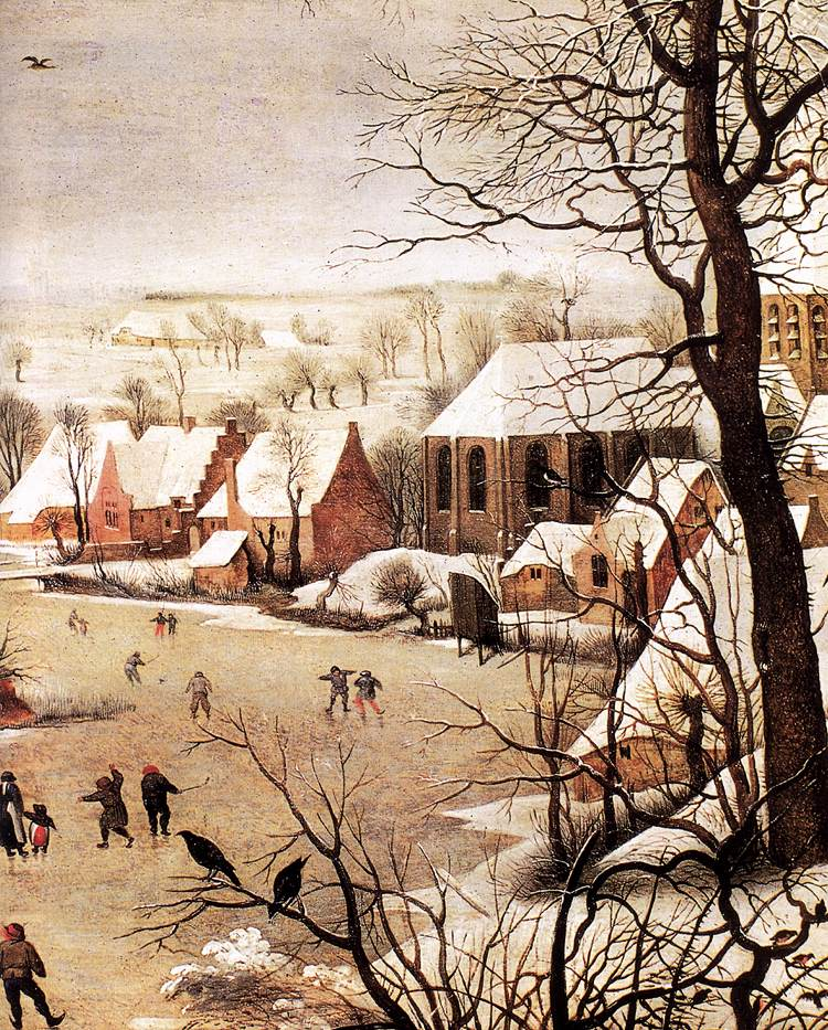 Pieter Bruegel, ο Πρεσβύτερος Χειμωνιάτικο τοπίο με σκέιτερ και μια παγίδα πουλιών 1565