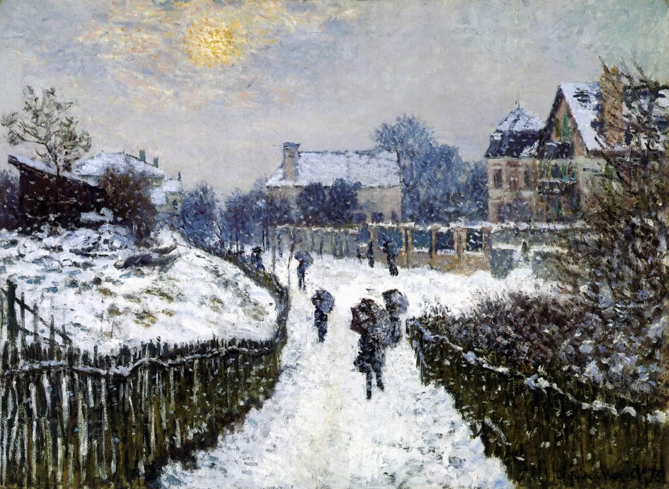 Κλοντ Μονέ, Boulevard Saint-Denis το χειμώνα 1875