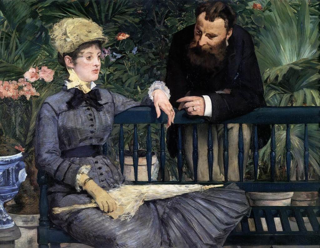 Edouard MANET, στο χειμωνιάτικο κήπο 1879