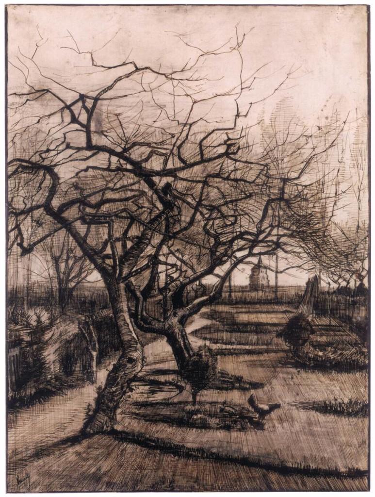 , Vincent van GOGH , κήπος στο Nuenen το χειμώνα Μαρ. 1884