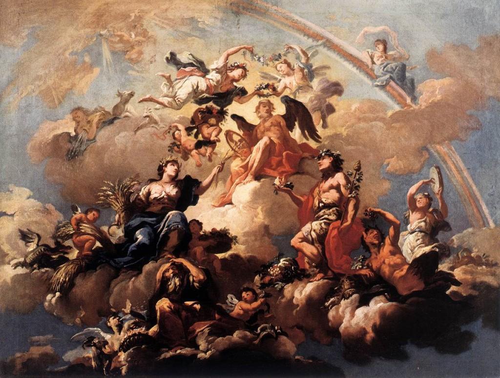 Bartolomeo MONTE ALTO,  Οι Τέσσερις Εποχές αφιερώνουν στον Χρόνο c. 1737